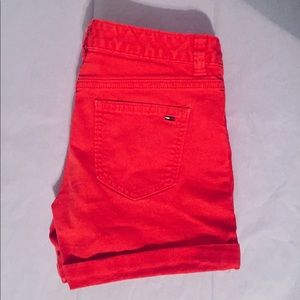 Tommy Hilfiger Red Logo Shorts